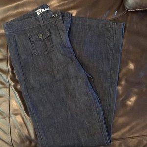Denim straight leg jean size 10 tall